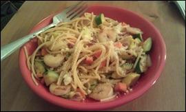 shrimp spring veggie pasta
